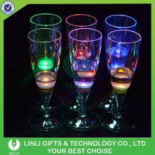 Liquid Activated Party Led Lighting Champagne Glass For Party
