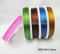 0.3mm Colorful steel tiger tail cheap beading wire