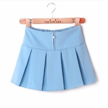 WS907 Girls Skorts School Uniform Pleated Skorts Korean High School Uniforms School Uniform Manufacturers in China