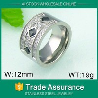 refined style unisex ring man ring comfort stainless steel spinner ring