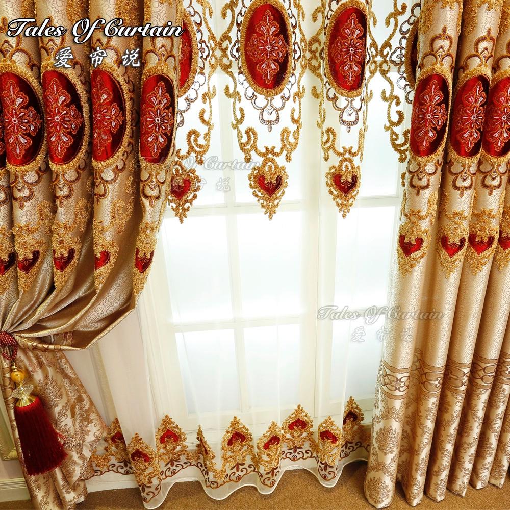 Elegantes wohnzimmer vorhang moderne blumen design mit organza sheer