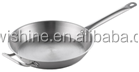 hot sale factory bottom cheap price stainless steel frying pan with two handle no lid