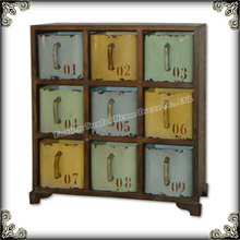 Living room cabinet antique colorful furniture