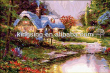 Fashion product 2015 oil painting by numbers kits for bedroom HKF170