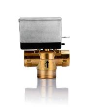 Válvula motorizada de la zona para el sistema de la bobina del ventilador
