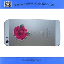 Flower design microfiber phone cleaner sticker