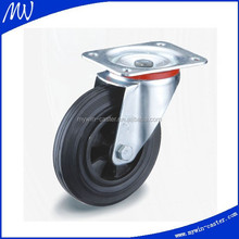3 inch black rubber wheel barrow solid rubber wheel with pp rim