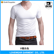 Top Quality New Fashion High Quality Cotton Spandex Men Muscle Slim Fit V-neck T-shirt