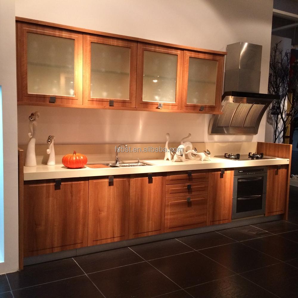 Pantalla cocina moderna mobiliario de cocina gabinete presionado ...