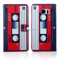 hot selling decorative desigh pattern pouch leather case with card slots for samsung note 5