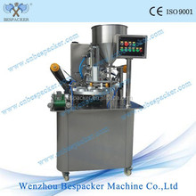 Pre-cut Lid Rotary Fill & Seal Machine for Plastic Cup with Coding Optional