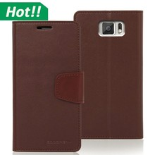 Hot Mercury Diary Case Flip wallet leather cover for Galaxy S4 S5 S6