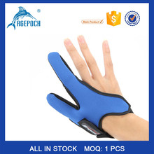 Adjustable Non-Slip palm Fishing Finger Protector Two-finger Rubber Fishing Gloves
