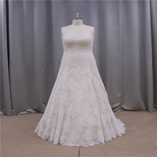 Real photos latest folds corset high quality strapless wedding dress 2012