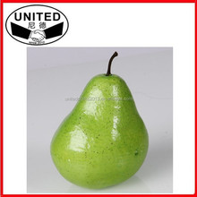 2015 hot selling lifelike mini artificial pears faux fruit fake food