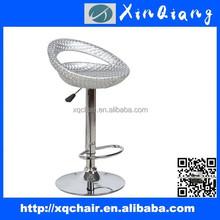 Modern beautiful adjustable swivel PVC bar stool With Gas Lift Stool Mechanism China XQ 203D