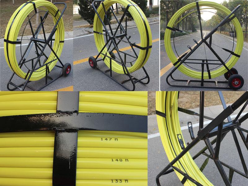 Frp duct rodder fiberglass rod snake rodders