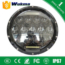 "7inch 75 watt led headlight , New car Wrangler 7"" 75w led headlight,Round 75 watt led work light"
