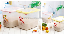 Plastic kitchenware rice storage container for fresh-keeping