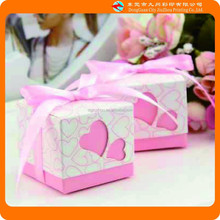 2015 Alibaba best sale fashion mini pink wedding gift box design from china