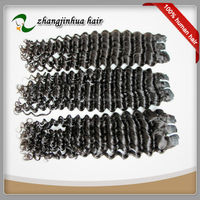 accept american express black color deep wave 18inch human hair extensions