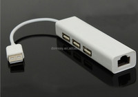 Wholesale High Quality For Apple Macbook Lan Adapter Cable 3 Port Ethernet HUB