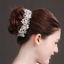 MYLOVE Rhinestone Flowers Bridal Headband Wedding Hair Accessories MLF095