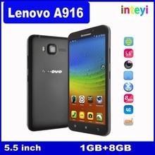 Original Lenovo A916 MTK6592 Octa Core 4G LTE FDD Cellphone Android 4.4 play store Mobile