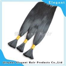 Wholesale black hair bulk smooth silky straight virgin human peruvian hair