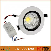 High Power 7W COB LED Ceiling Downlight with driver