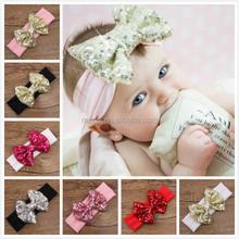 2015 Baby girl hair accessories various flower elastic headband for kids handmade baby headbands
