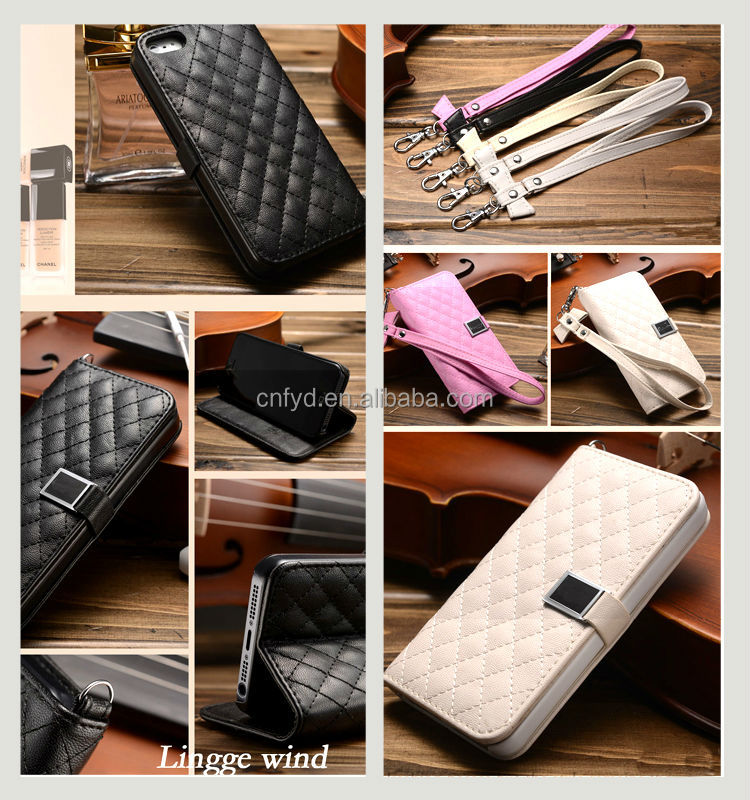lanyard leather phone case for iphone5 5s