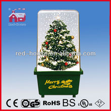 Snowing Christmas Decoration with Solar Lamp Shade