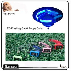 Newest Lighted up LED Nylon Cat and Small dog Collar With Safety Belt