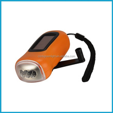3 LED Solar Crank Flashlight LED Crank Flashlight