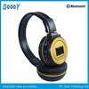 wireless bluetooth memory card headphones fashionable gold