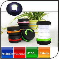 Cheapest camping light 3 mode waterproof 250 lumens mini flashlight foldable camping led lantern