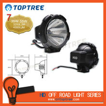 "TOPTREE 7"" Xenon 35W/55W 12V/24V Black Offroad HID Driving Light,Brighter Your Life! 2522B"