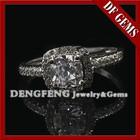 De prata de alta qualidade CZ anéis de noivado