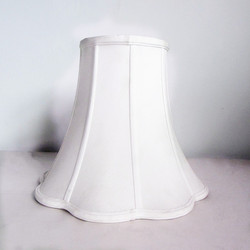 Faux Silk Softback Bell Lampshade,flower lamp shades for table light
