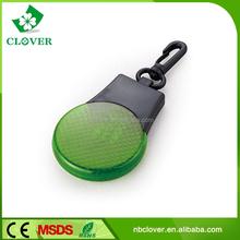 For promotion gift 3 led safety mini led flashlight reflective keychain