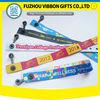 wholesale customized L shape festival fabric wristbands with slid locks