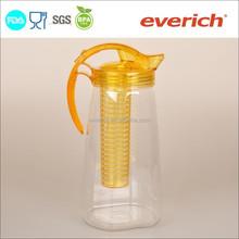 Eco-friendly 2L juice water jug plastic pitcher