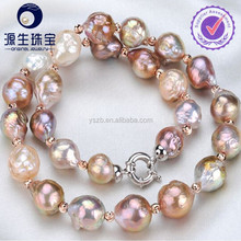 10-11mm Fasion Round Edison Pearl Necklace, Bracelet Jewelry Set