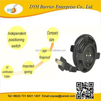 Wide electric appliance application retractable reels for cable management extension cable cord reels