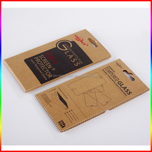 cusom brown kraft Phone Screen Protector paper box with logo printing