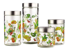 Glass canister set for food storage