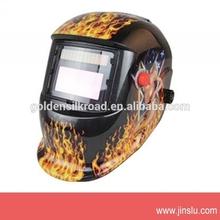 Km-1600 negrouna tamaño de auto- oscurecimiento careta de soldar con el diseño de las llamas