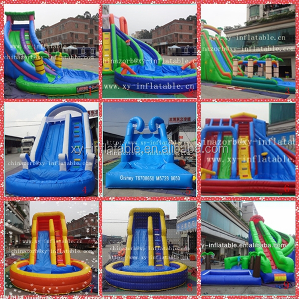 top inflatable water slide toys/two slip water slide/summer games