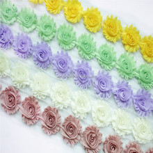 62 kinds of color chiffon shabby flowers in hot sell!!